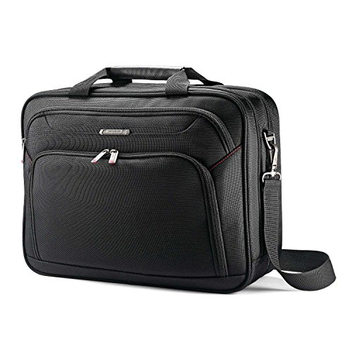 Samsonite Two Gusset Brief Laptop Bag, Black, One Size