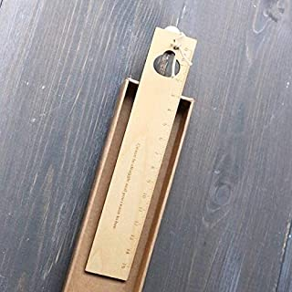 مجموعة قرطاسية - 1 قطعة تصميم مجوف ريترو خشبي مساطر الحيوان زهرة الطلاب مستقيمة مسطرة لوازم القرطاسية المدرسية (F)