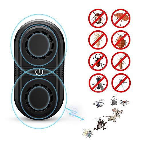 AONBYS Ultraschall Schädlingsbekämpfer, Doppel-Ultraschalllautsprecher Haustierfreundlich Ultraschall mit Elektromagnetische Vertreiber gegen Ratten, Mäuse, Spinnen, Ameisen
