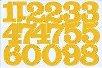 (シャシャン)XIAXIN 防水 PVC製 数字 ナンバー ステッカー セット 耐候 耐水 ローマ字 数字 キャラクター 表札 スーツケース ネームプレート ロッカー 屋内外 兼用 TS-520 (イエロー, 1点)