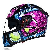 Casco de moto Hombre Casco integral Moto Riding ABS Material Adventure Casco de motocross Casco de...