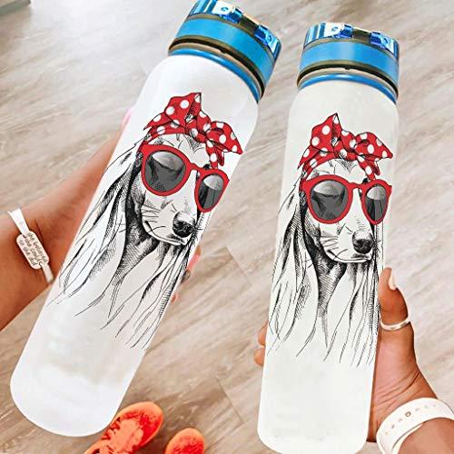 BBOOUAG Botella de agua deportiva de 32 onzas para perros, ideal como regalo para amados, color blanco, 1000 ml