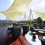 Sun Shade Sail, 16.4' x 16.4' x 16.4' Triangle Sail Shade Waterproof Canopy UV Block Sunshade Awning for Patio Backyard Garden Outdoor Activities