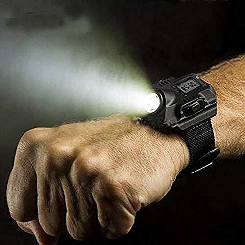 Heylas Wiederaufladbare Armbanduhr LED Taschenlampe 300LM wasserdichte Outdoor Taschenlampe Handgelenk Lampe Taschenlampen Handwerkzeuge