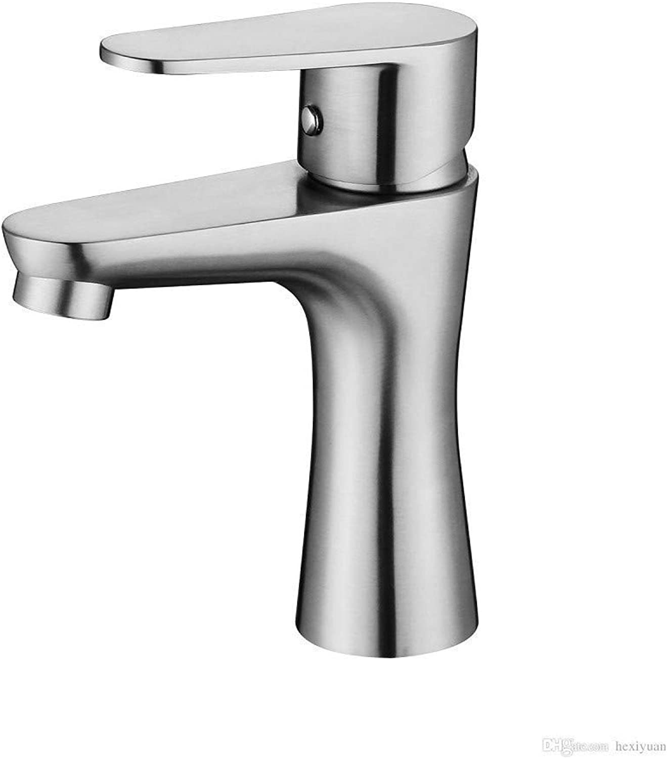 FuweiEncore 304 Stainless Steel Sink Faucet Basin Small Waist Hot and Cold Water Tap (color   -, Size   -)