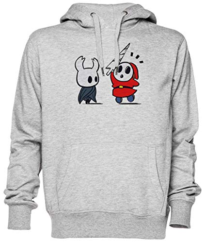 Hollow Shy Guy Gris Jersey Sudadera con Capucha Unisexo Hombre Mujer Tamaño XS Grey Unisex Hoodie Size XS