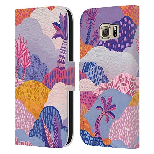 Head Case Designs Offizielle Turnowsky Wilder Kroko Psychedelische Vision Leder Brieftaschen Huelle kompatibel mit Samsung Galaxy S6
