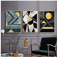 幾何学的な現代アートのキャンバスポスター抽象的な形の壁画プリントミニマリストの現代的なリビングルームの装飾画像30x40cm(12x16in)×3