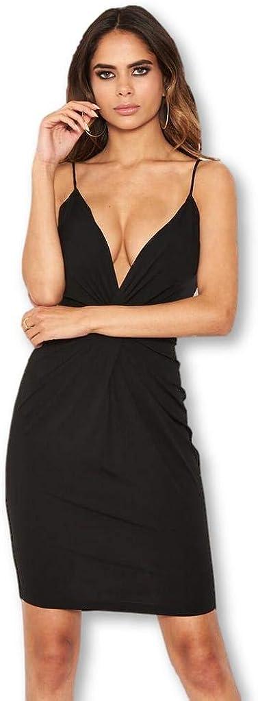 AX Paris Women's Knot Front Bodycon Dress