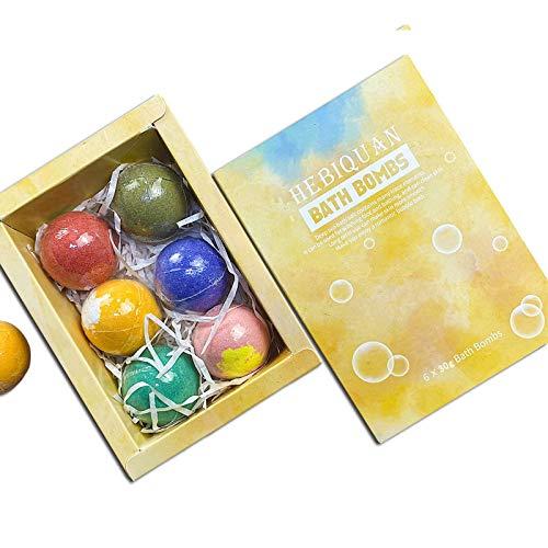 ハーブエッセンシャルオイルバスソルトバスボール、12種類のユニークな純粋なエッセンシャルオイルの香り、日本のバスソルトバブル 6カプセルのバスボールボックス