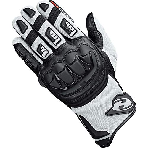 Held Motorradhandschuhe lang Motorrad Handschuh Sambia Pro Cross-/Enduro Handschuh grau/schwarz 9, Herren, Cross/Offroad, Ganzjährig, Leder