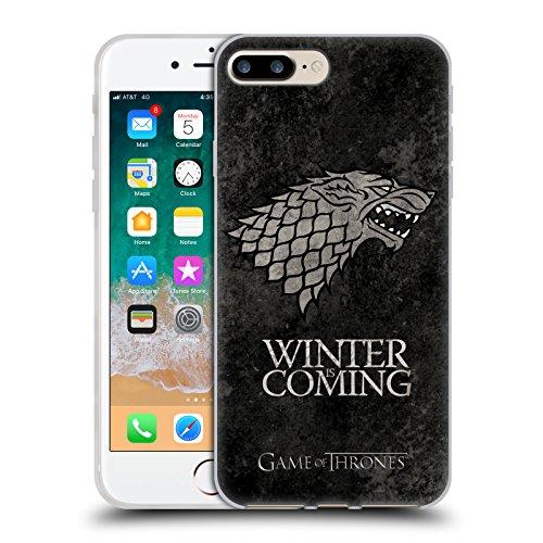 Head Case Designs Oficial HBO Game of Thrones Stark Sigils Afligido Oscuro Carcasa de Gel de Silicona Compatible con Apple iPhone 7 Plus/iPhone 8 Plus