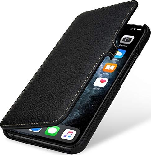 StilGut Book Hülle kompatibel mit iPhone 11 Pro Max Hülle aus Leder mit Clip-Verschluss, Klapphülle, Handyhülle, Lederhülle - Schwarz