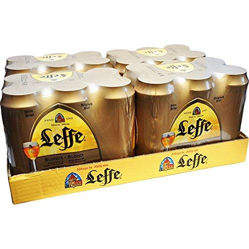 Leffe Blond Belgisches Bier in der Dose 24x500ml. 6,6% Vol.