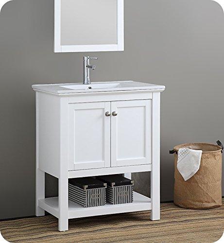 Fresca Manchester 30' White Traditional Bathroom Vanity