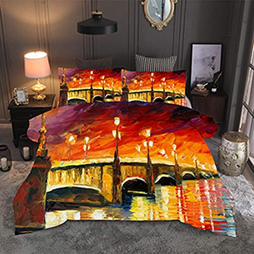 TIANENG Watercolor Oil Painting Bedding Sets Vintage Tree Duvet Cover Set Queen King Quilt Cover Bedclothes no Sheet and Filling