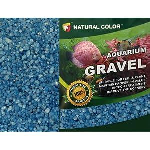 NATURAL COLOUR Aquarium Gravel, 5 kg, Blue