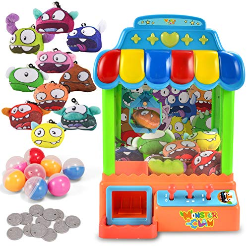 JOYIN Mini Claw Machine Game Toy Candy Grabber & Prize Dispenser Vending...