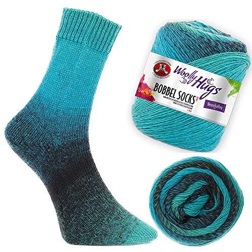 Woolly Hugs Bobbel Socks Fb. 253, zwei identische Socken stricken, 100g Sockenwolle mit Farbverlauf