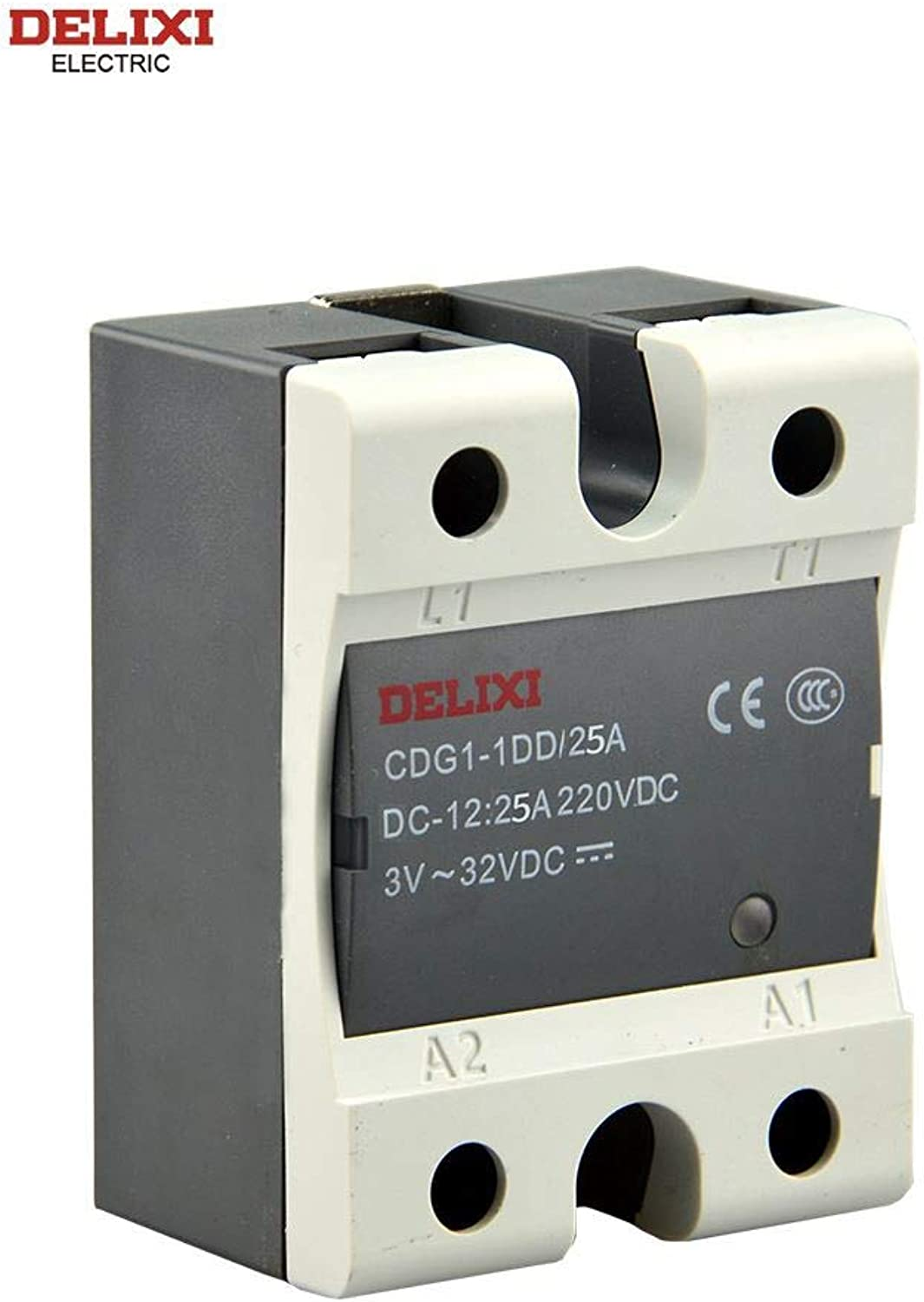 DELIXI Solid State Relay Single Phase CDG11DD 10A 20A 25A 40A 60A 80A 100A DC Control DC  (color  60A)