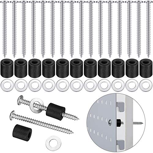 Pegboard Mounting Kit, Includes Screws, Spacers and Washers for 1/8-Inch and 1/4-Inch Pegboard (144 Pieces)