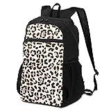 Cute Man Made D Jaguar Print Bookbag Bolso Ligero a la Escuela para Elementrary Pupil 298 Inch Teenage Daily Mochila Lavable