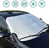 SXLFDLL Car Windshield Snow Cover Windschutzschild Sun Shade Magnetic Edges All Weather Car Front Windscreen(39.4' x 57.87')