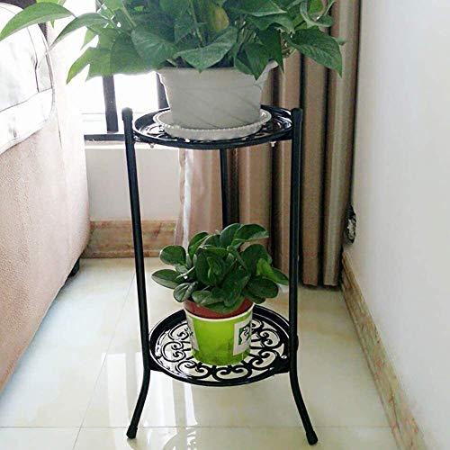 Estante de la planta Soporte de la planta y de la flor sostenedor de pote 2 Stand gradas de hierro forjado de flores, interior al aire libre Balcón Decoración del hogar Multi-capa de soporte de la pla