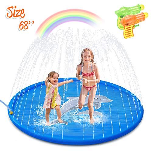 Minto toy [2020 Updated] Splash Pad, Sprinkler for Kids Sprinkler Pad Water Toys Mat for Children...