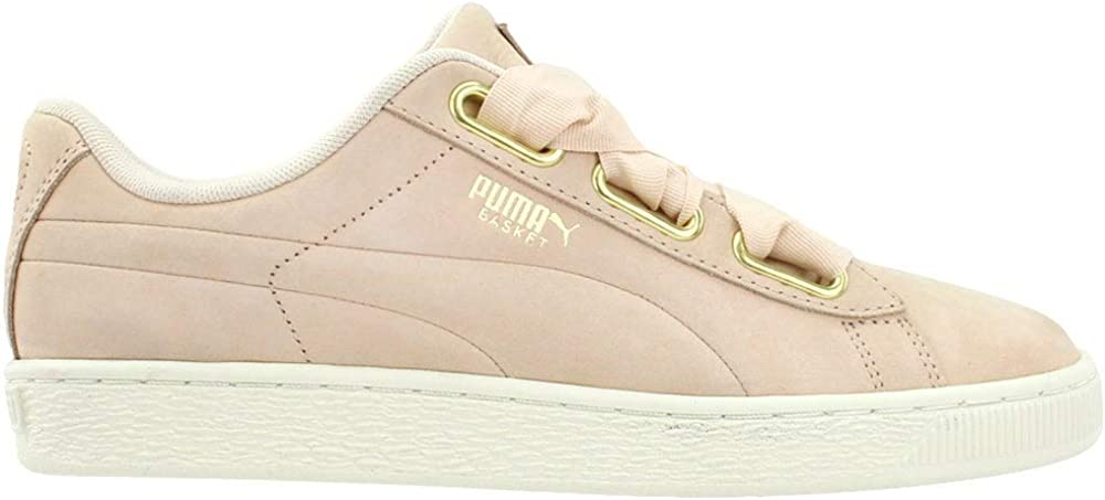 PUMA Womens Basket Heart Soft Lace Up Sneakers Shoes Casual - Pink