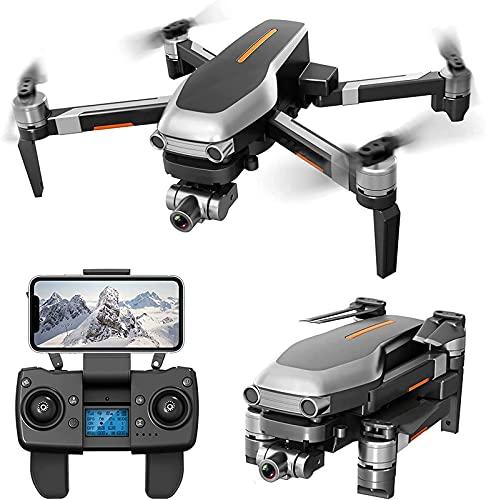 Drone GPS con Fotocamera 4K per Adulti, Quadcopter GPS FPV Pieghevole con Motore brushless Ritorno Intelligente a casa Seguimi Principianti Punti di Interesse con 25 Minuti di Volo (Batteria X 2)