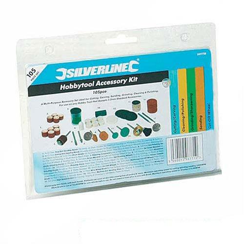 Silverline 349758 Zubehör für Rotationswerkzeuge, 105-tlg. Satz Aufnahmeschaft: 3,17 mm