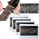 Poweka Gitarre Griffbrett Aufkleber, Noten Lernen für Anfänger, geeignet für elektroakustische...