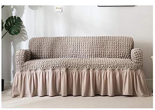 Allenger 1 Protector elástico para Muebles,Funda de sofá Gruesa de Color sólido, Funda de sofá de Falda Completa, Funda de cojín Antideslizante de Alta Elasticidad-Gris_120-170cm