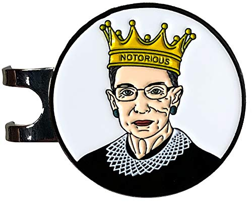 Balanced Co. Ruth Bader Ginsburg Golf Hat Clip with Enamel Magnetic Ball Marker