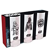 Star Wars - Set de 3 Vasos - Dark Vader, Stormtrooper, Tie Fighter - Merchandising Cine