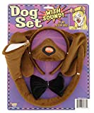 Forum Novelties Animal Costume Set Brown Dog Ears Nose Tail with Sound Effects