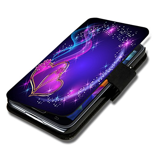 wicostar Book Style Flip Handy Tasche Hülle Schutz Hülle Schale Motiv Etui für Huawei Ascend Y330 - Flip X12 Design5