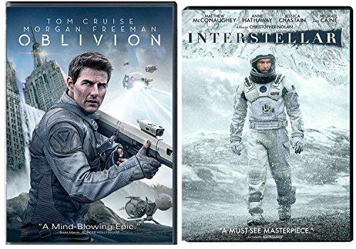 Oblivion & Interstellar DVD 2 Pack Sci-Fi Epic Movie Double Feature Set