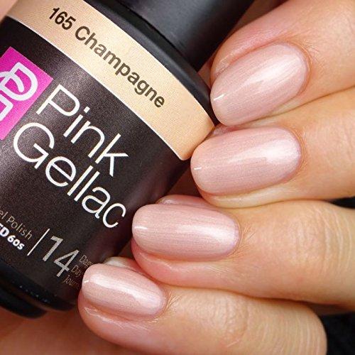 Pink Gellac 165 Champagne UV Nagellack. Professionelle Gel Nagellack shellac für mindestens 14 Tage perfekt glänzende Nägel