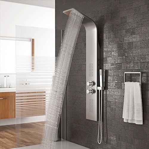 Edelstahl Duschpaneel Duschsäule Regendusche Dusche Badarmatur Duscharmatur