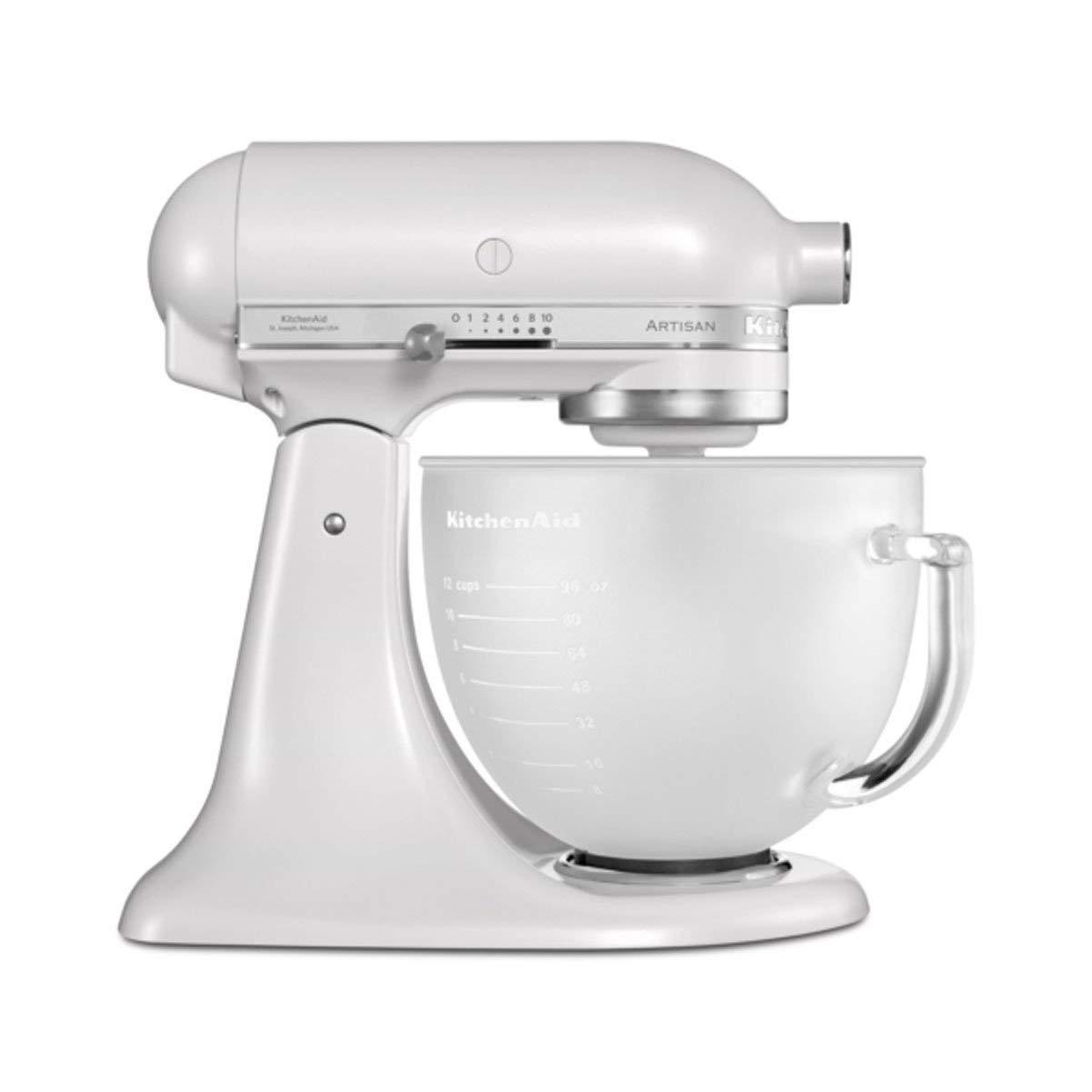 KitchenAid 5KSM156PS - Robot De Cocina Kitchen Aid 5Ksm156 Efp Con Bol De Cristal Translúcido: Amazon.es: Hogar