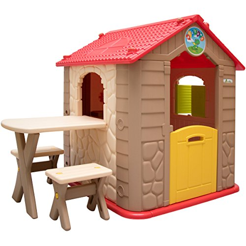 LittleTom childrens Playhouse incl 1 table 2 benches for boys and...