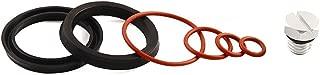 iFJF Fuel Filter Head Primer Seal Rebuild Kit and Air Bleeder Screw for 2001-2013 GM Duramax Fuel Filter Housing -Aluminum Screw(Silver)