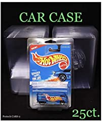The Car Case by PROTECH Stackable Two Piece Design, Does Not bend Corners 25 Count Bundle Great For Treasure Hunts or replacing those old worn out RLC cases Fits Basic Hot Wheels, Larrys Garage, Boulevard, Fast And Furious, Batmobiles + much more