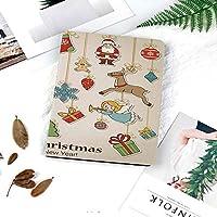 多彩なiPad 9.7 ケース PU レザー iPad 9.7 2018 第6世代 / iPad 2017 第5世代 / iPad air/iPad pro 9.7 / iPad air244 対応 ケー図案を焼き付けるクリスマス冬の休日をテーマにしたアイコンお祝いオブジェクトレトロなグラフィックコレクション装飾的な
