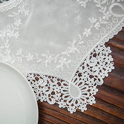 Runner Blanco Classy para decoraciones de fiesta de ducha de novia nupcial de boda de Boho rústico, mantel de jute natural vintage imitado de lino de lino corredor ideal para mesa buffet, fiestas, cen