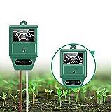 Jowxi Soil Test Kit, 3-in-1 Soil Tester with Moisture, Light and PH Test, Soil PH Meter for Garden, Lawn, Farm, Indoor & Outdoor Use (Green), Soil Moisture Tester