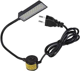 Lixada 30 LED Máquina de Coser Lámpara de Luz Base Fija Magnética Flexible Tubo Flexible Cuello de Ganso Diseño para Tareas Domésticas