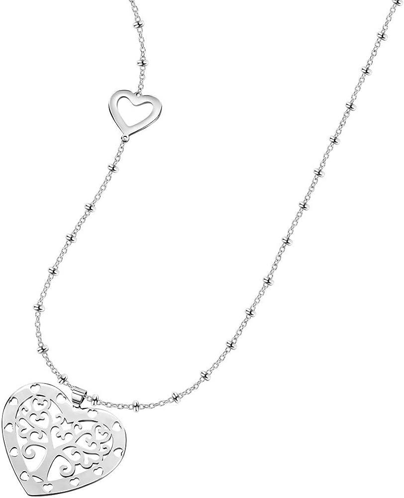 morellato collana da donna, collezione talismani, in acciaio inossidabile con pendenti saqe32